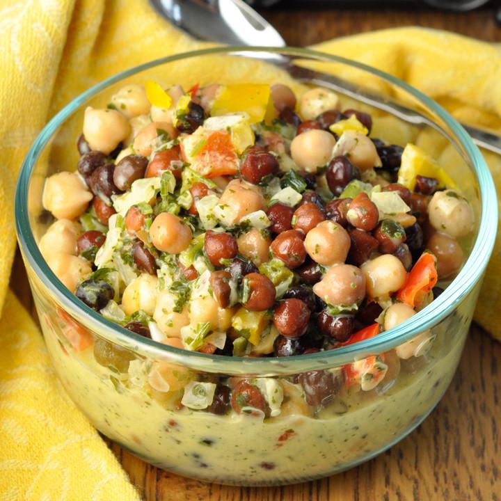 Summer Side Dishes Recipes  Summer Chickpea Black Bean Salad