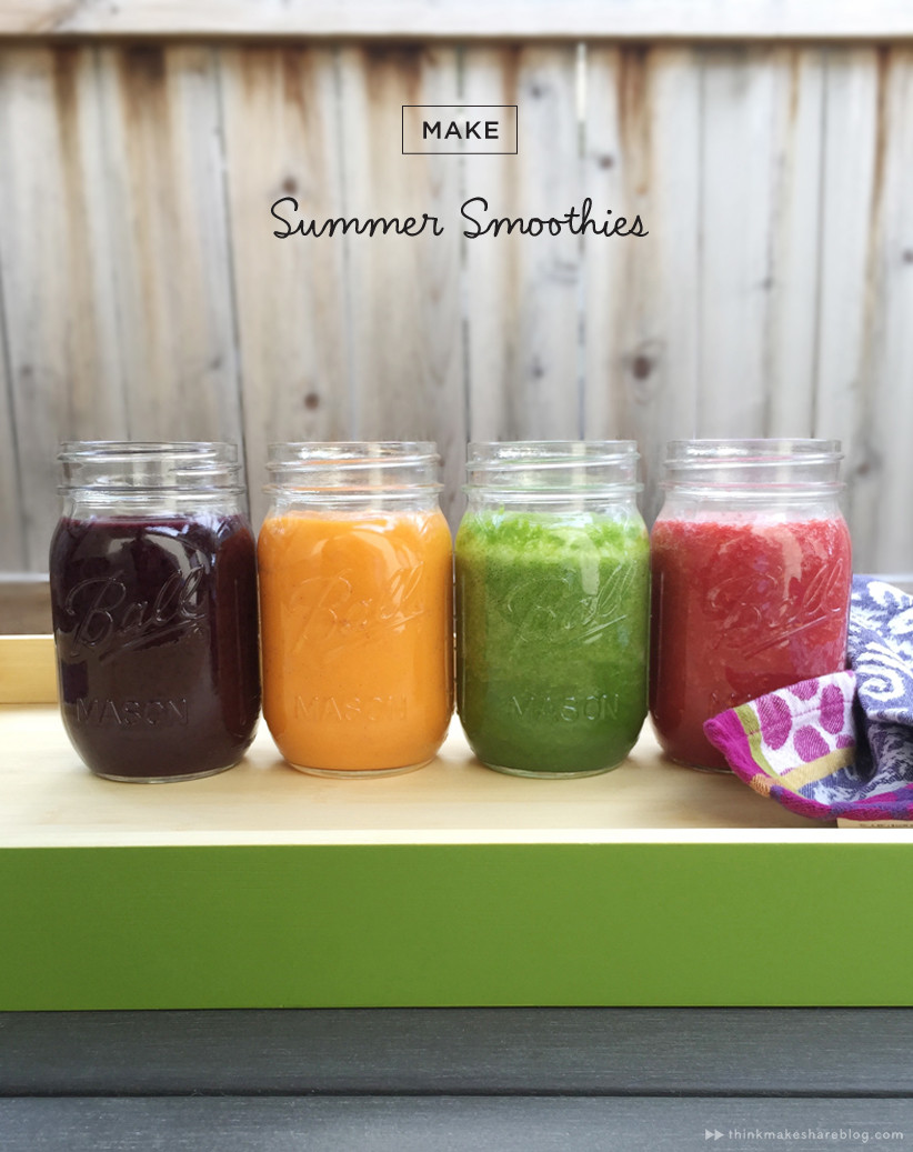 Summer Smoothies Recipes  Drink the rainbow Summer smoothies in all shades Think