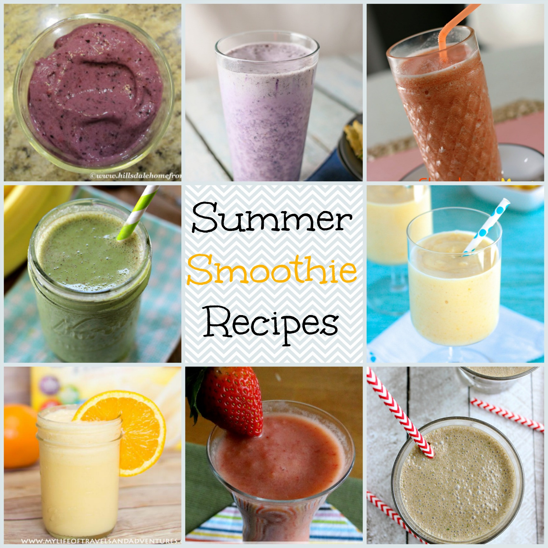Summer Smoothies Recipes  Summer Smoothie Recipes Family Fun Journal