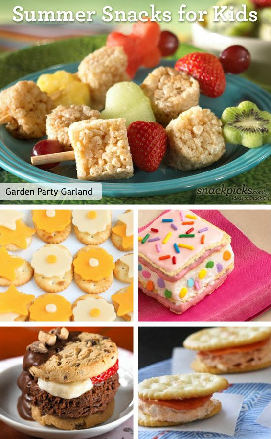 Summer Snacks Recipes  30 best images about Summer kid food fun on Pinterest