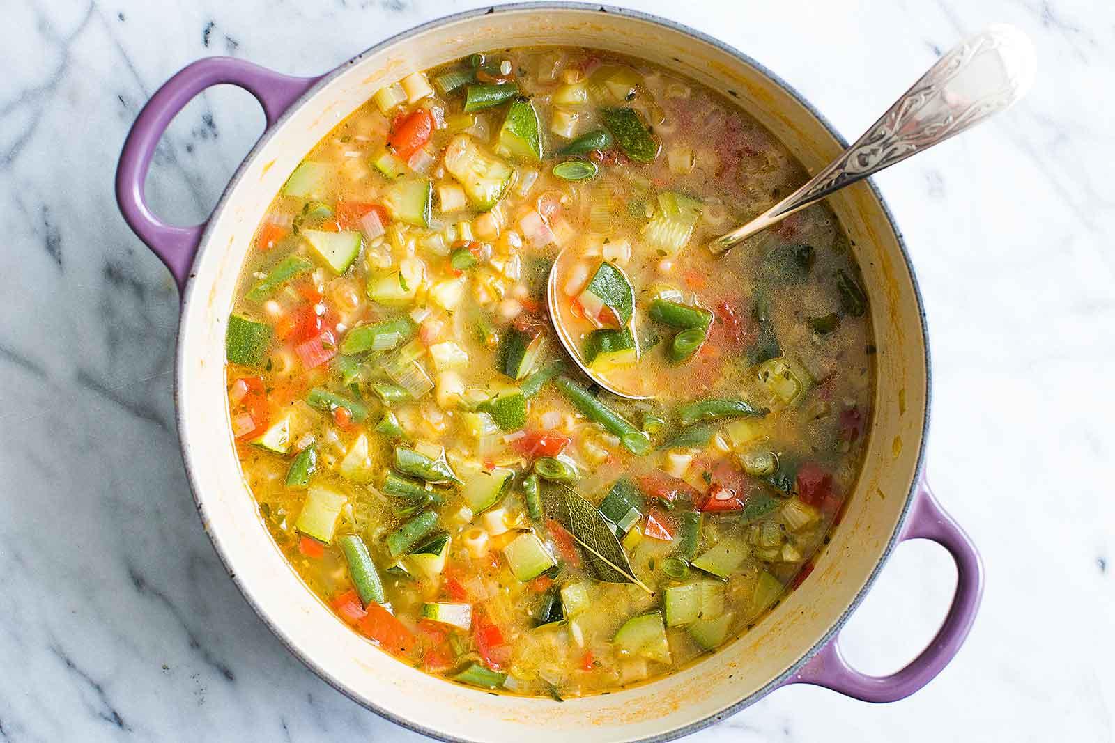 Summer Soup Recipes Vegetarian  Summer Minestrone Soup Recipe