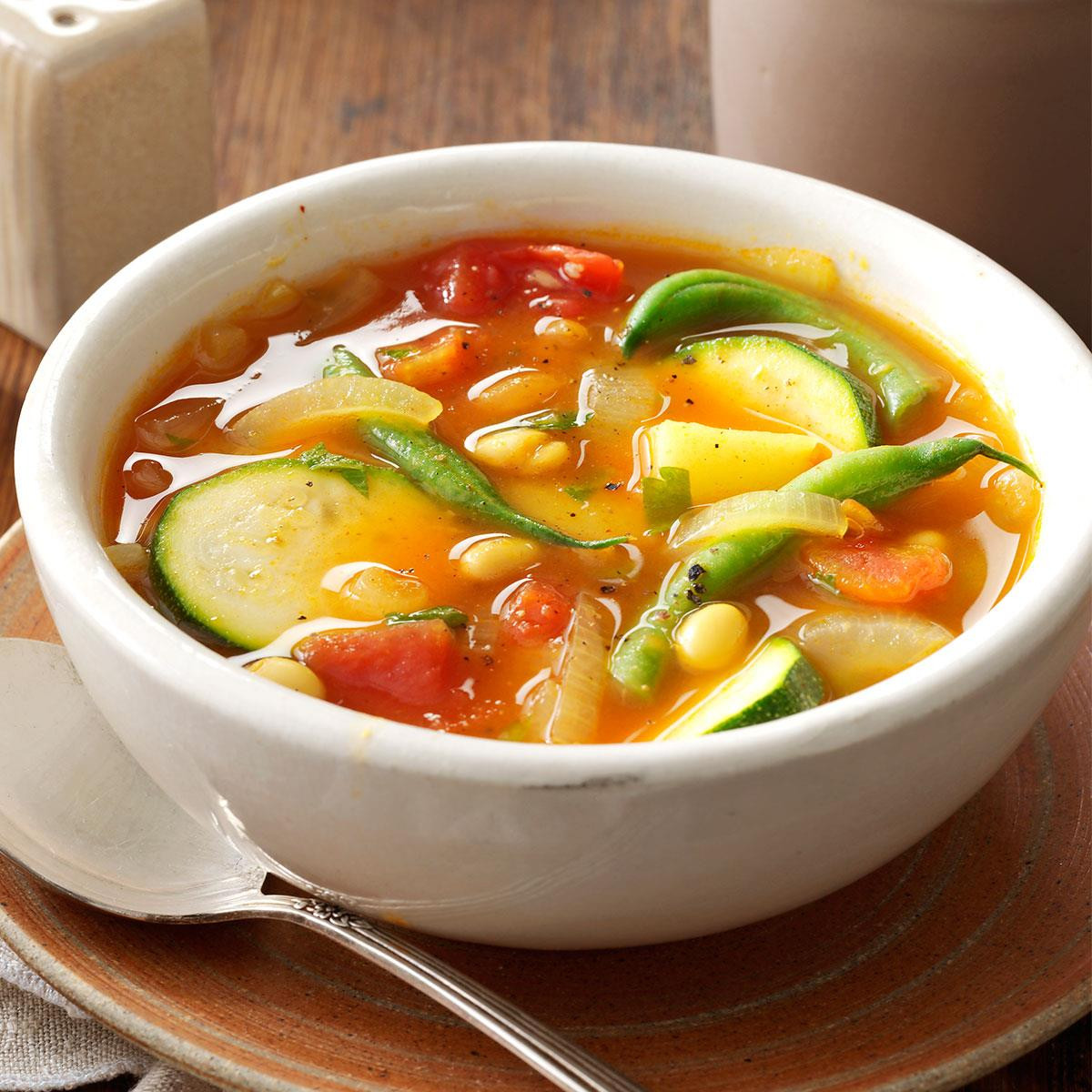Summer Soup Recipes Vegetarian  Summer Ve able Soup Women Fitness