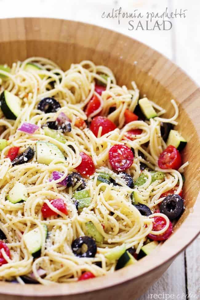 Summer Spaghetti Salad  California Spaghetti Salad
