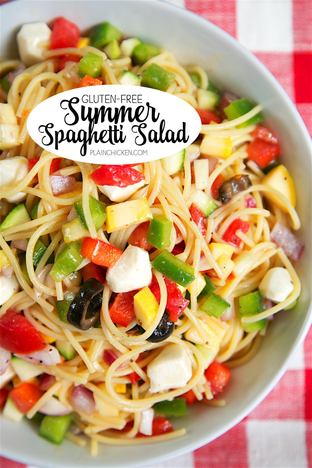 Summer Spaghetti Salad  Gluten Free Summer Spaghetti Salad