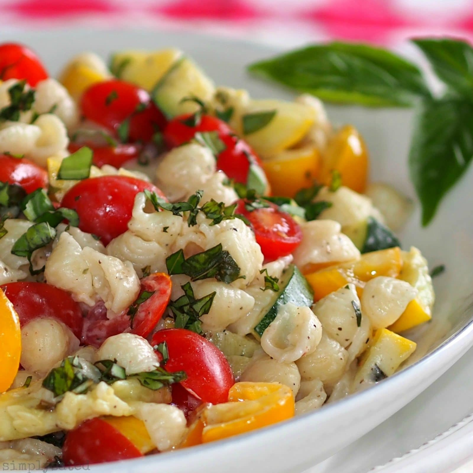 Summer Spaghetti Salad  Summer Pasta Salad with Boursin Simply Sated