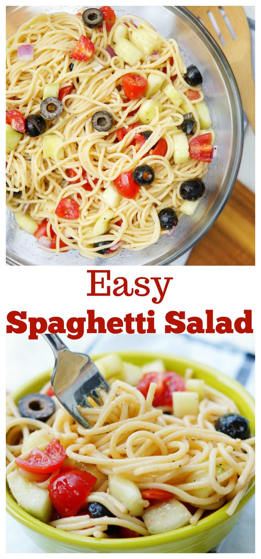 Summer Spaghetti Salad  summer spaghetti salad