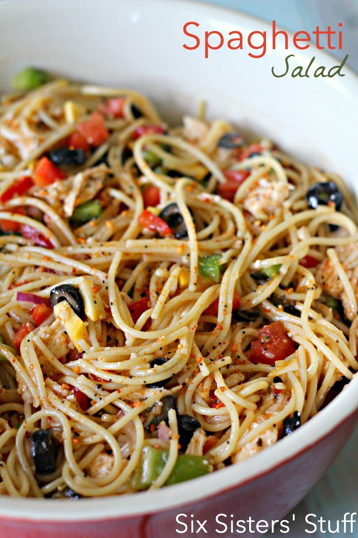 Summer Spaghetti Salad  15 Healthy Summer Salads Sew Much Ado