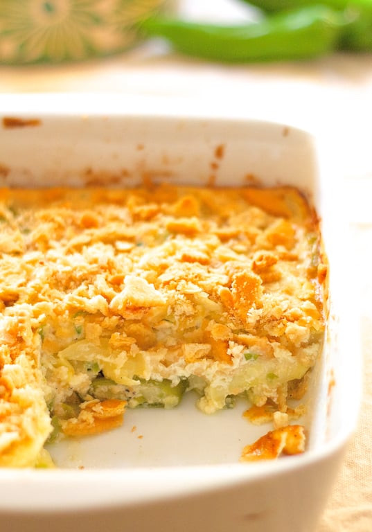 Summer Squash Casserole  Southwestern Summer Squash Casserole From A Chef s Kitchen