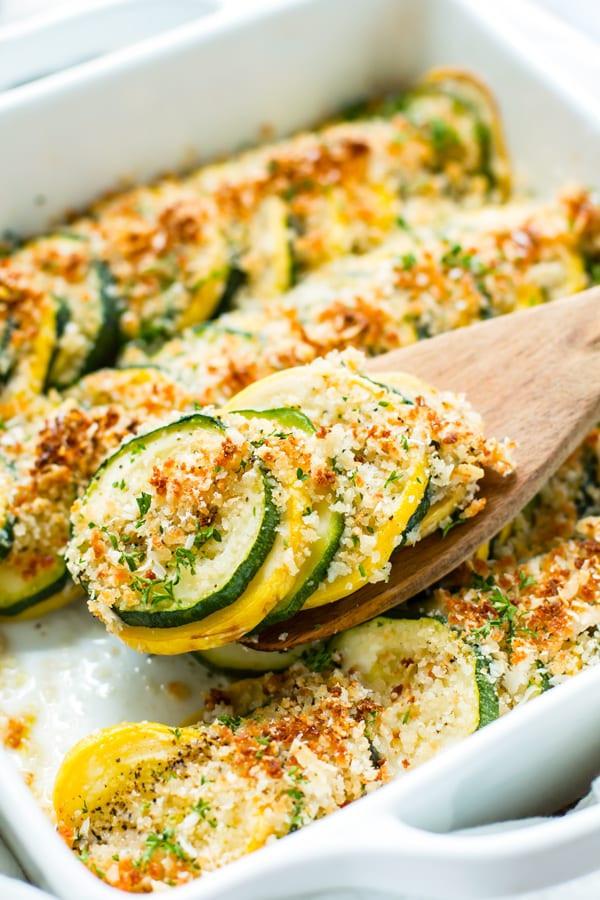 Summer Squash Casserole  Healthy Zucchini Squash Casserole Recipe