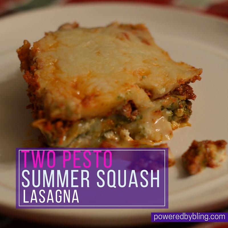 Summer Squash Lasagna  Two Pesto Summer Squash Lasagna Powered By BLING