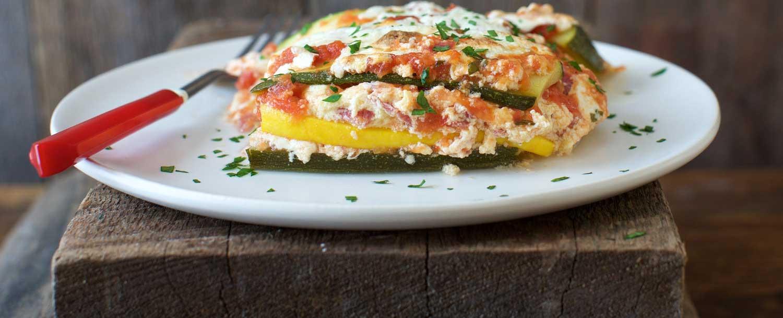 Summer Squash Lasagna  Recipes Summer Squash Lasagna with Ricotta and Salami