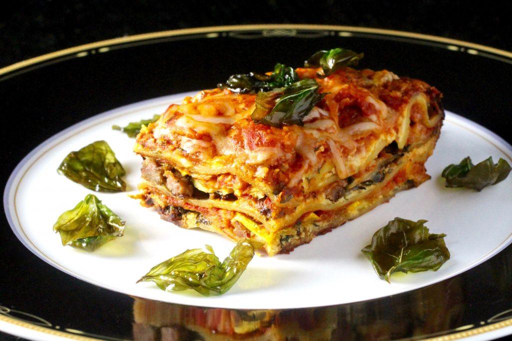 Summer Squash Lasagna  Summer Squash Lasagna with Fried Basil glutenfree Taste