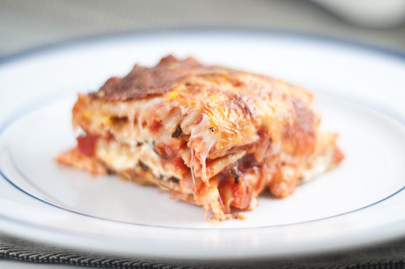 Summer Squash Lasagna  Summer Squash and Portobello Mushroom Ve arian Lasagna