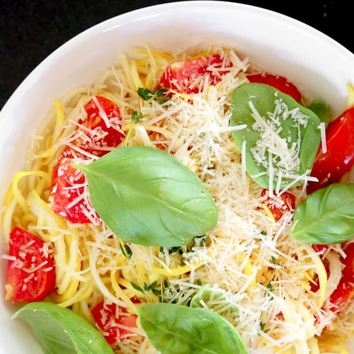 Summer Squash Noodles  Summer Squash and Cherry Tomato Pasta