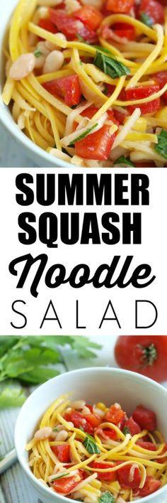 Summer Squash Noodles Recipes  Best Summer Squash Noodles Recipe on Pinterest