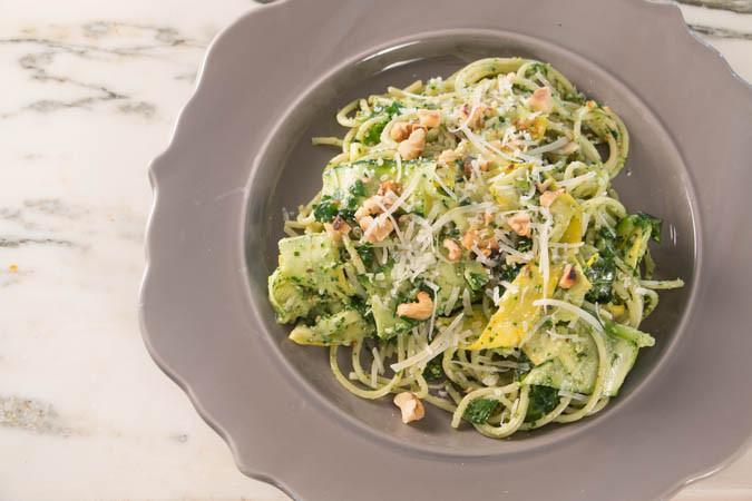 Summer Squash Noodles Recipes  Summer Squash Noodles & Arugula Pesto
