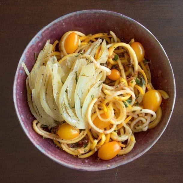 Summer Squash Noodles Recipes  Yellow Squash Noodles in Tomato Basil Sauce
