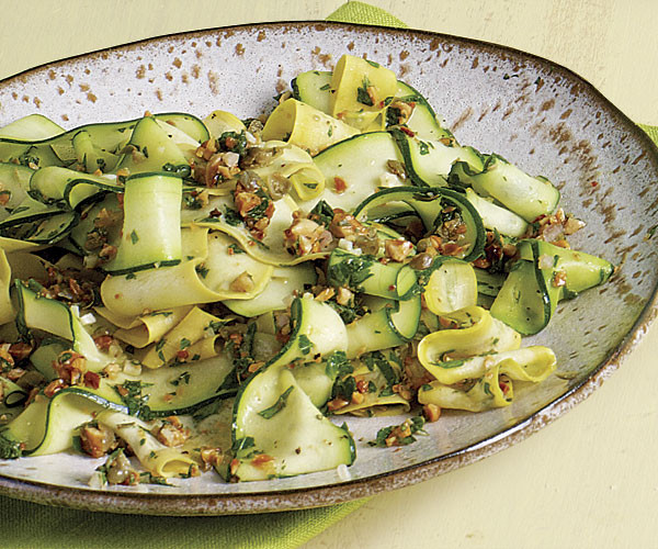 Summer Squash Nutrition  Shaved Summer Squash with Almond Salsa Verde Recipe