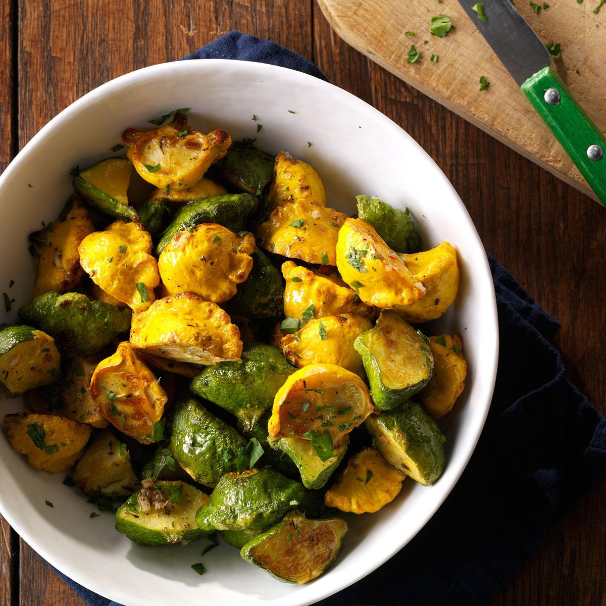 Summer Squash Recipe  Garlic Herb Pattypan Squash Recipe