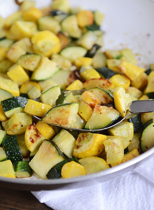 Summer Squash Recipe  Skillet Zucchini and Yellow Squash