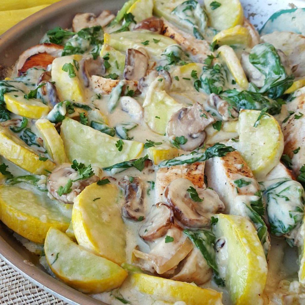 Summer Squash Recipe  Creamy Chicken and Summer Squash