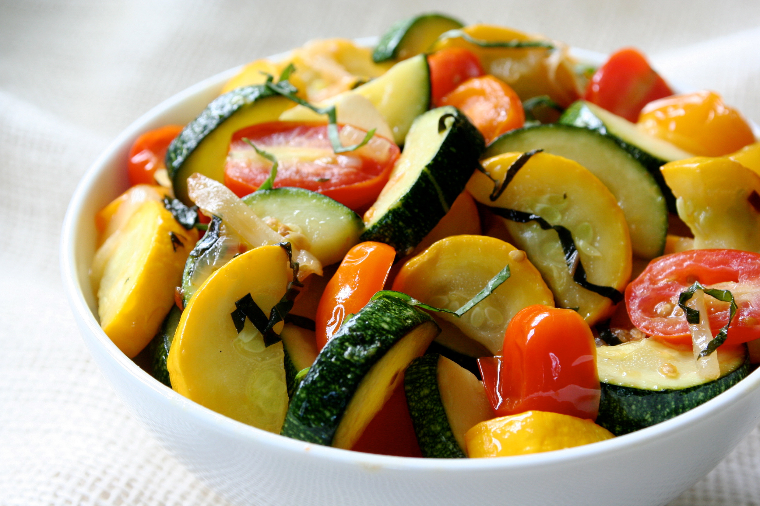 Summer Squash Recipes  Sautéed Summer Squash with Wilted Cherry Tomatoes Pots