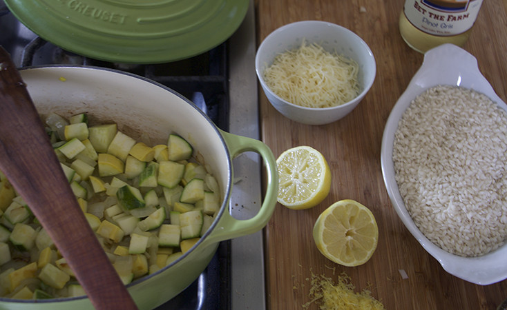Summer Squash Risotto  Lemon Risotto with Summer Squash