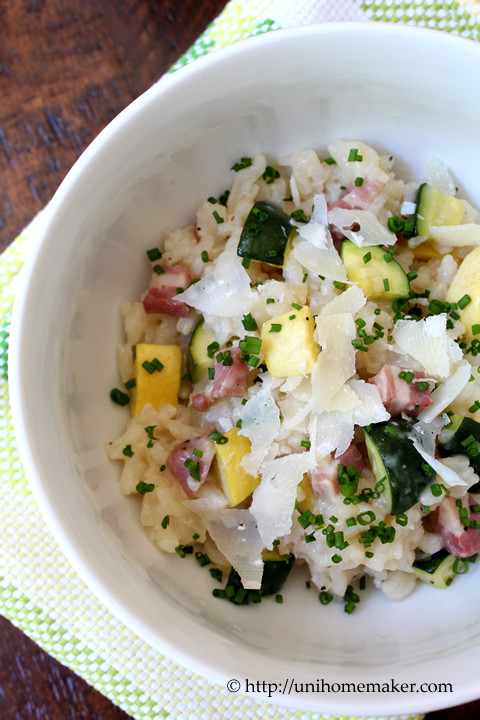 Summer Squash Risotto  Pancetta and Summer Squash Risotto
