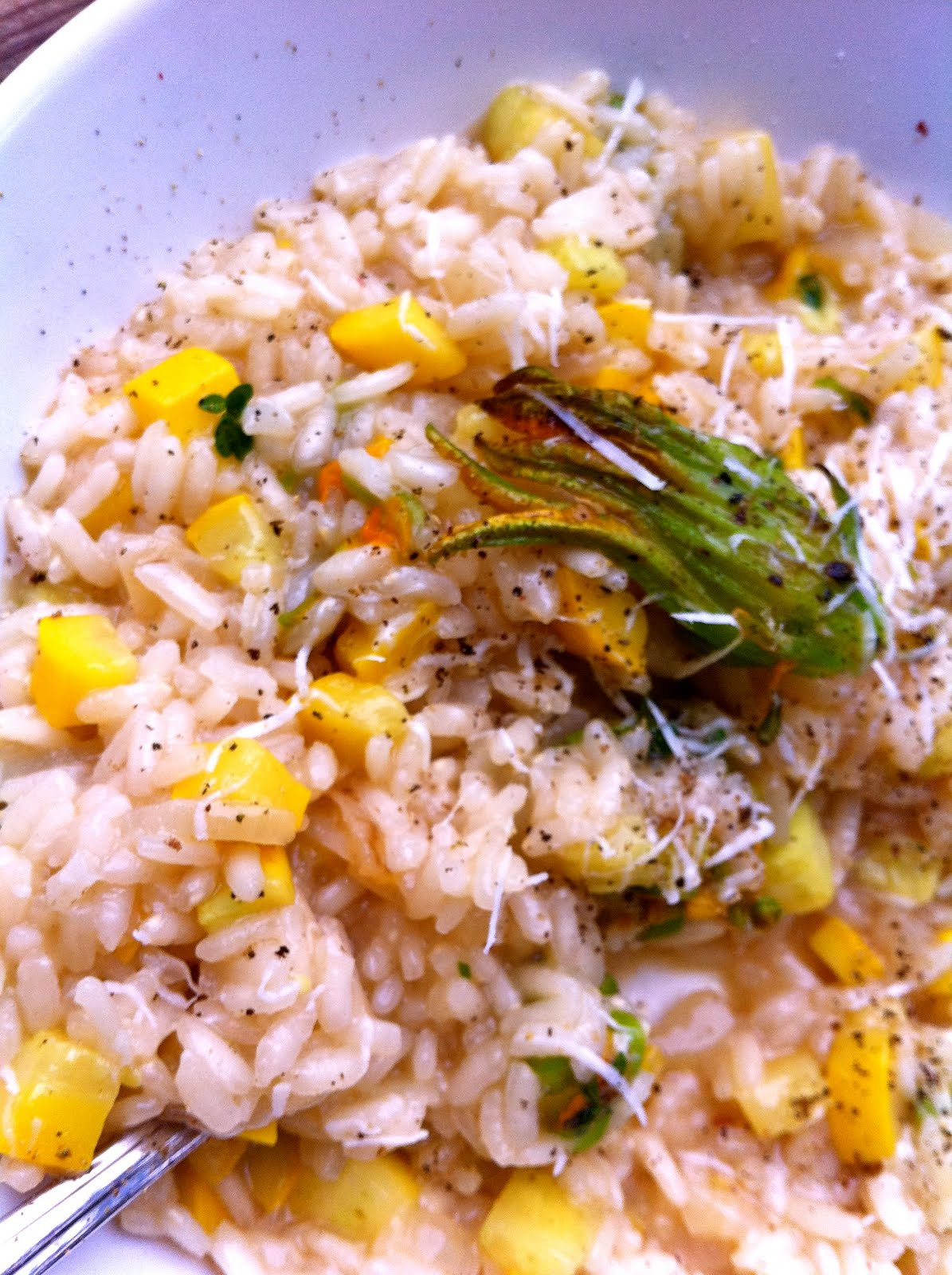 Summer Squash Risotto  FOOD STYLING AND REAL LIFE Yellow Squash Risotto with
