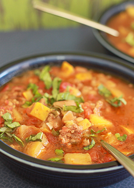 Summer Squash Soup  Slow Cooker Smoky White Bean & Summer Squash Soup with