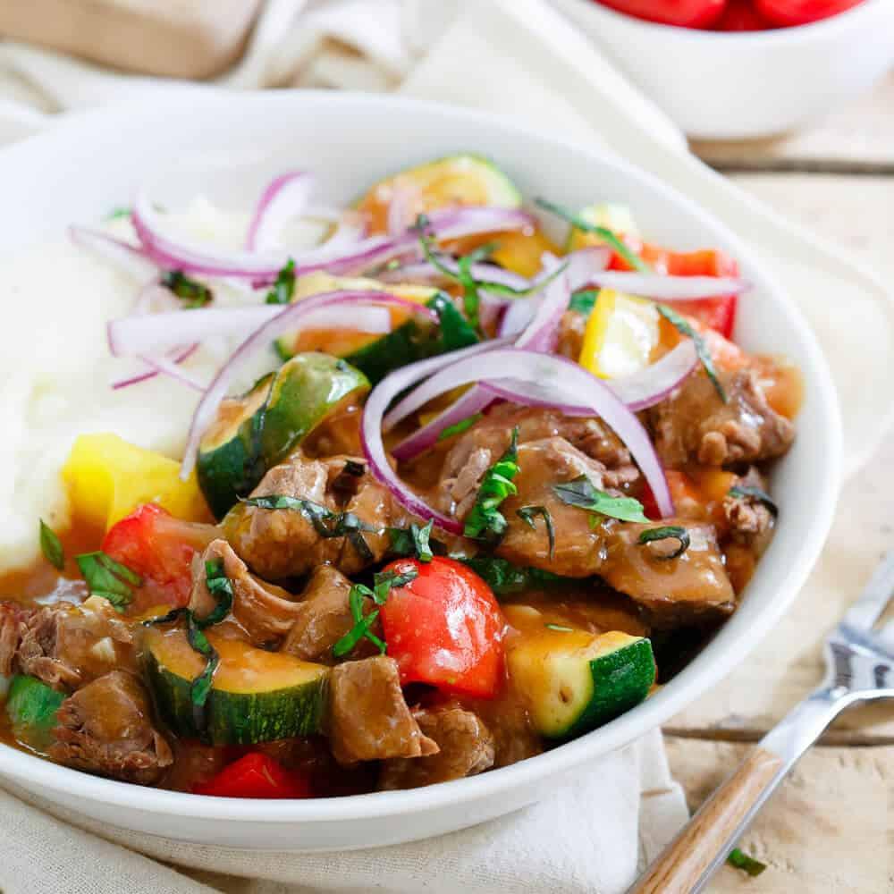 Summer Stew Recipe  Summer Beef Stew Slow Cooker Summer Beef Stew