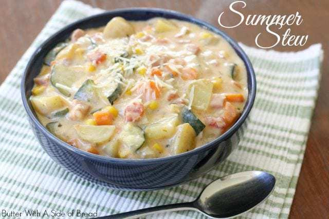 Summer Stew Recipe  SUMMER VEGETABLE STEW Butter with a Side of Bread