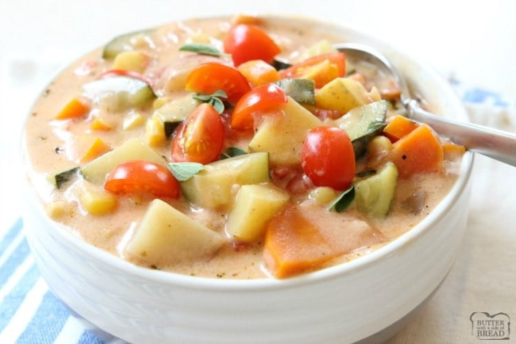 Summer Stew Recipes  SUMMER VEGETABLE STEW Butter with a Side of Bread