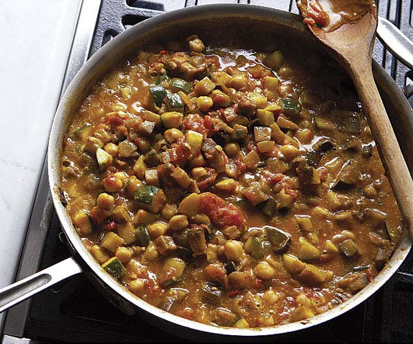 Summer Stew Recipes  Curried Chickpea and Summer Ve able Stew Recipe