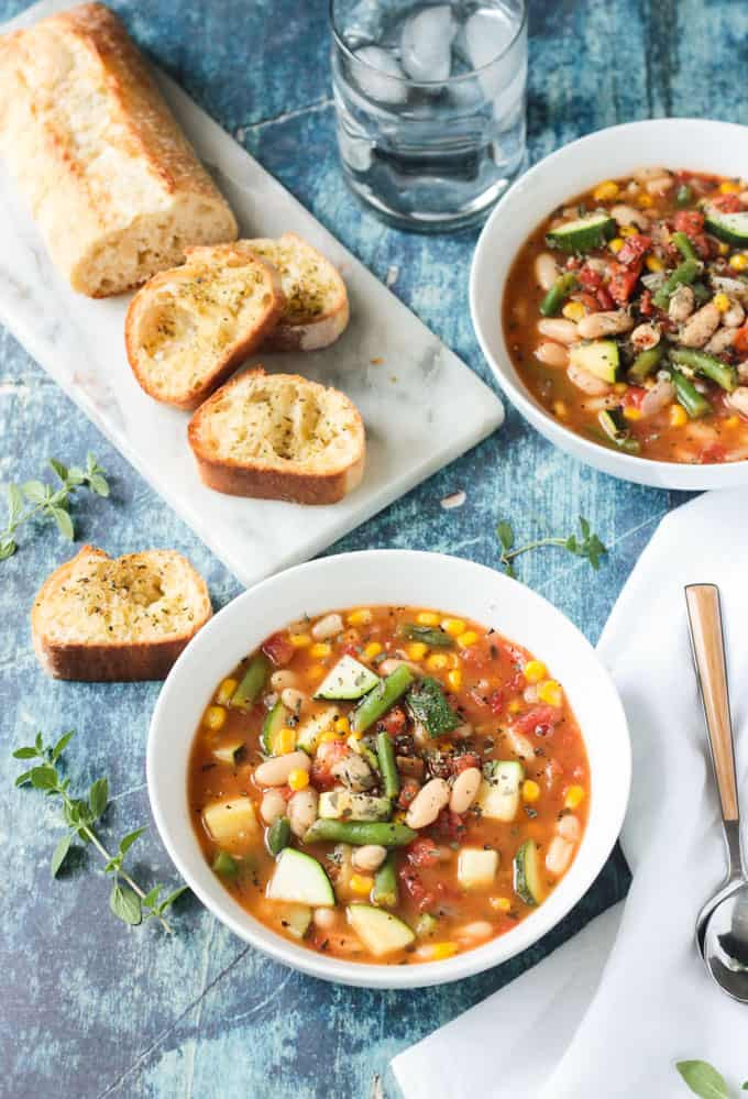 Summer Stew Recipes  Summer Stew Ve able & White Bean Soup Recipe Veggie