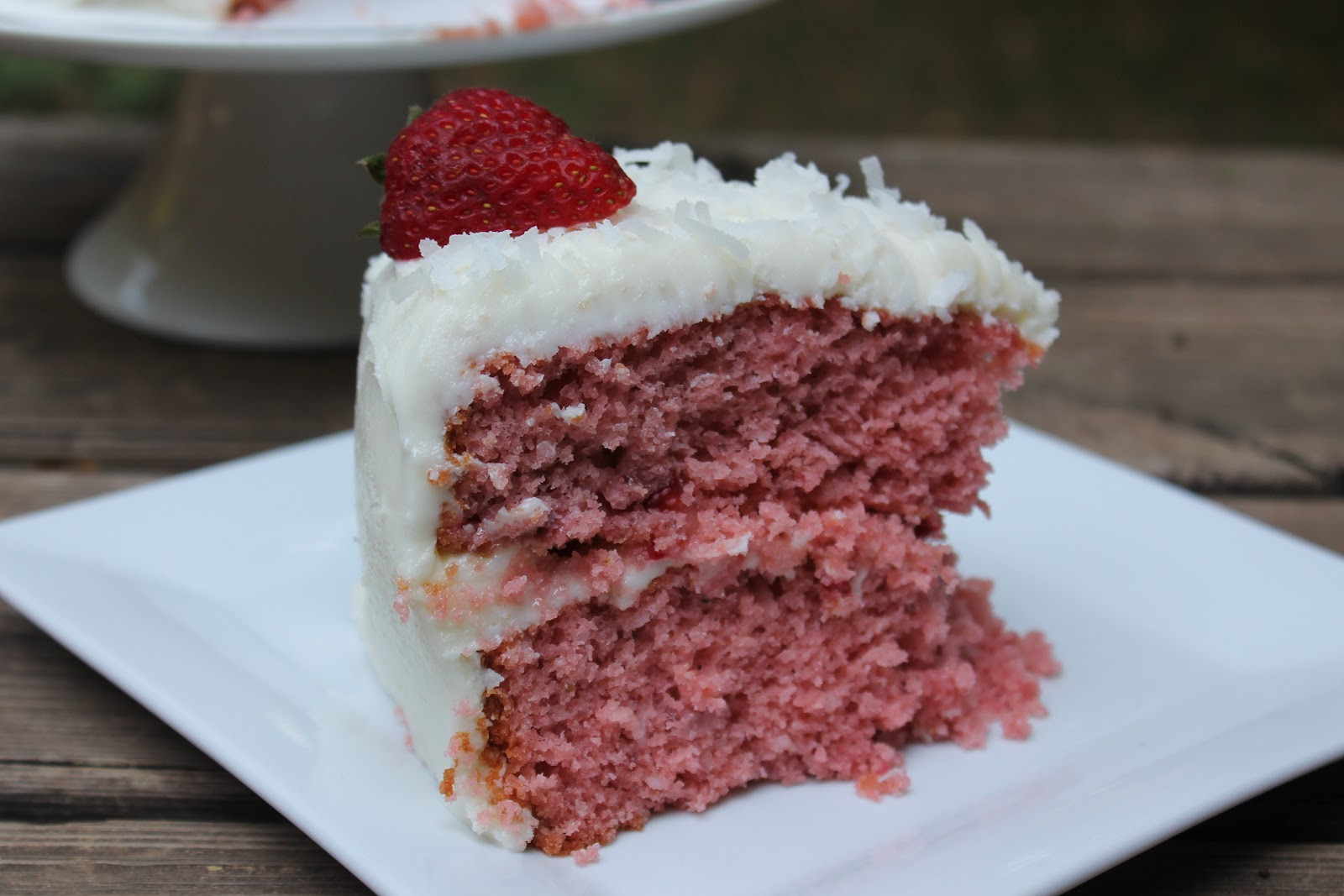 Summer Strawberry Cake  Summer Strawberry Coconut Cake Carolina Charm
