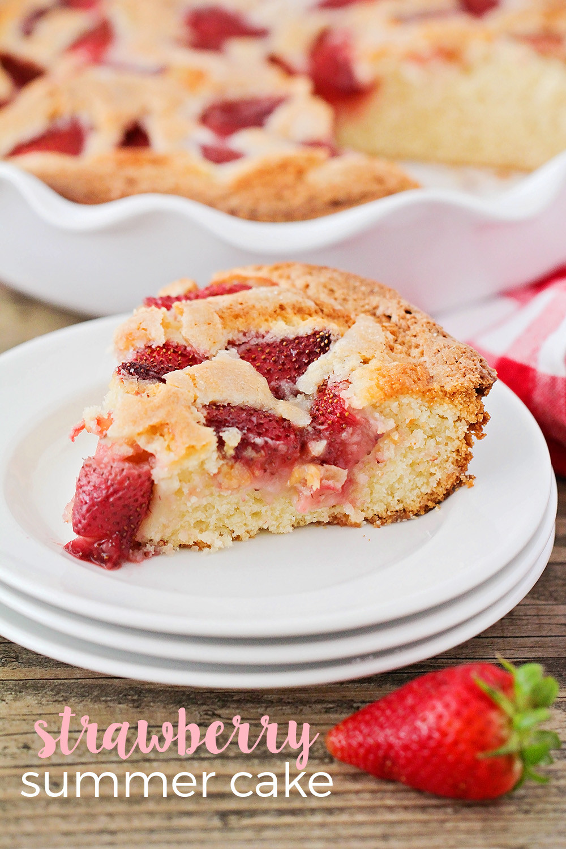 Summer Strawberry Cake  The Baker Upstairs Strawberry Summer Cake