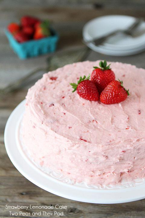 Summer Strawberry Cake  Strawberry Lemonade Cake Recipe