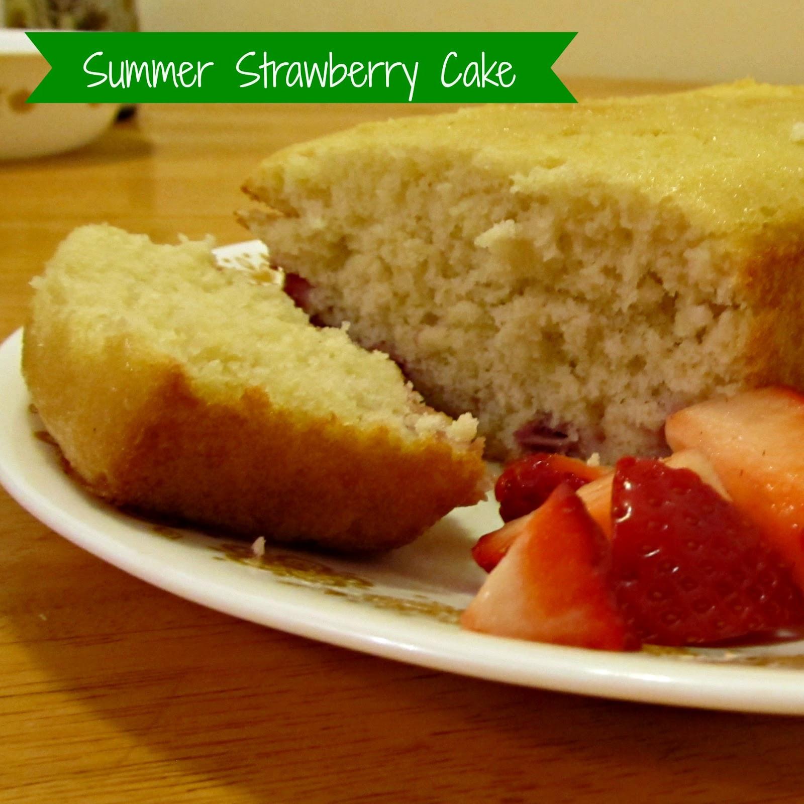 Summer Strawberry Cake  re•cipe easy summer strawberry cake