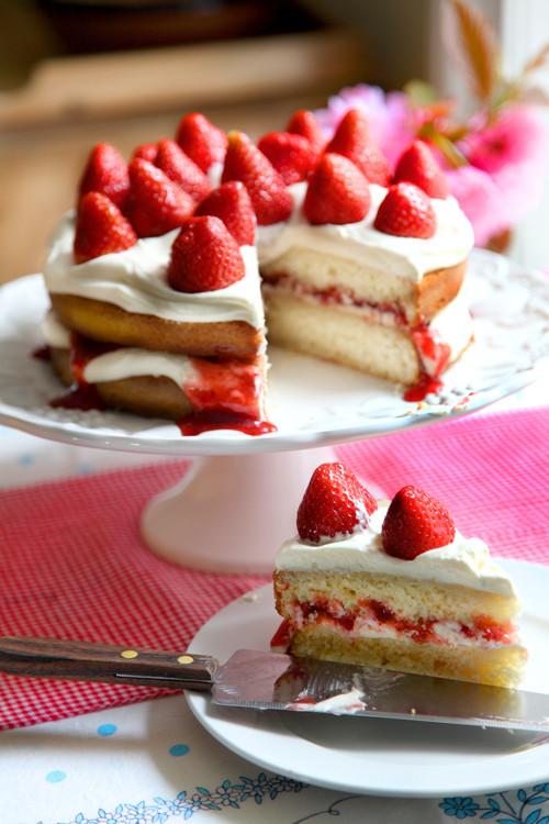 Summer Strawberry Cake  Donal Skehan