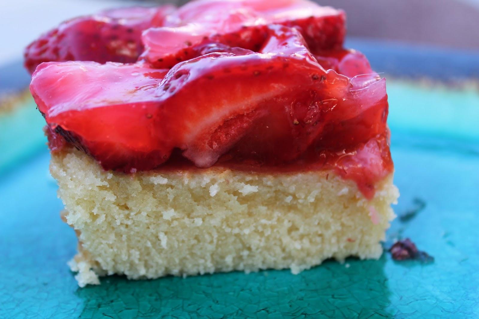 Summer Strawberry Cake  Gluten Free Casually Strawberry Summer Cake
