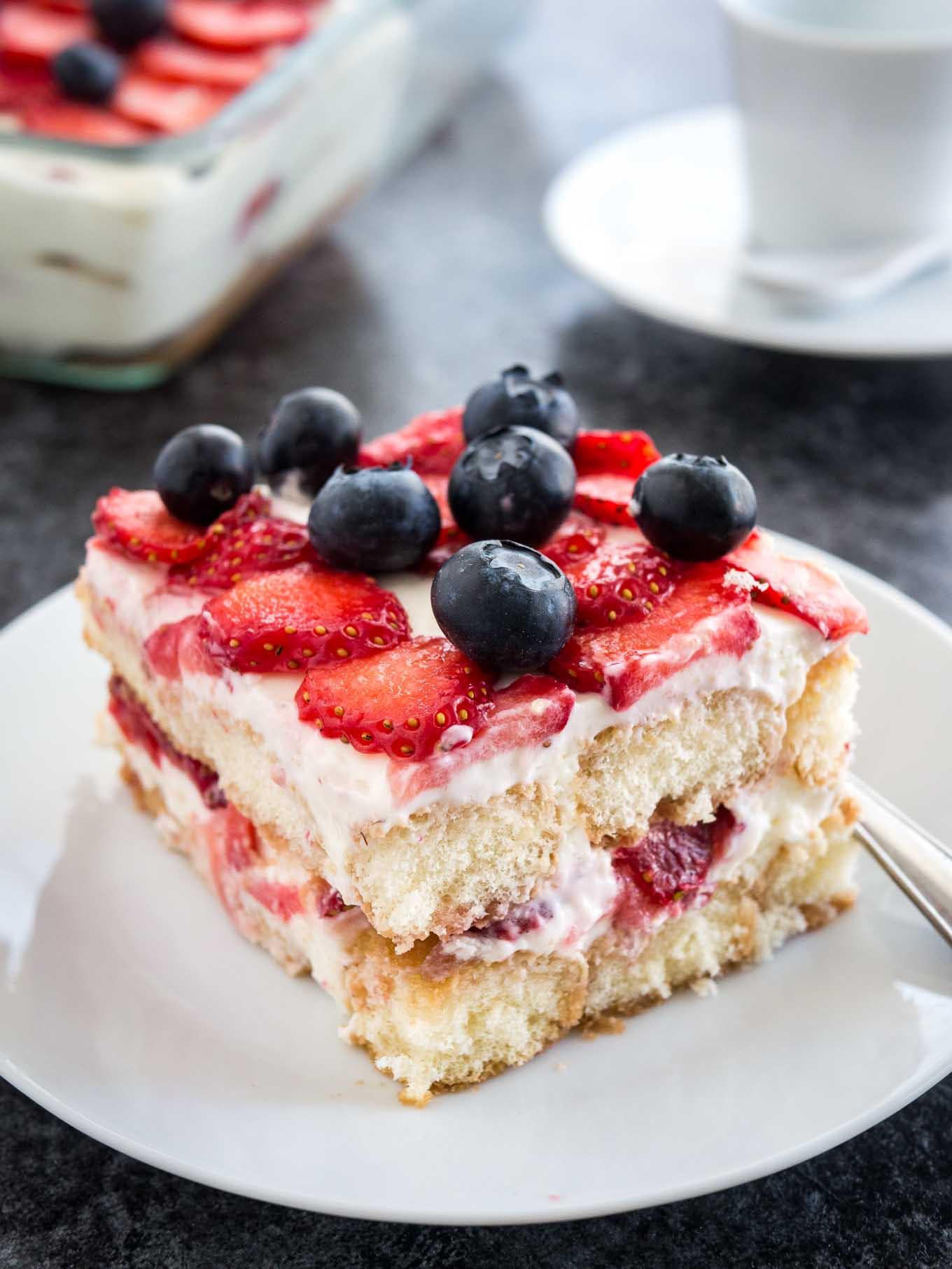Summer Strawberry Desserts  Strawberry Tiramisu No raw eggs no alcohol no coffee