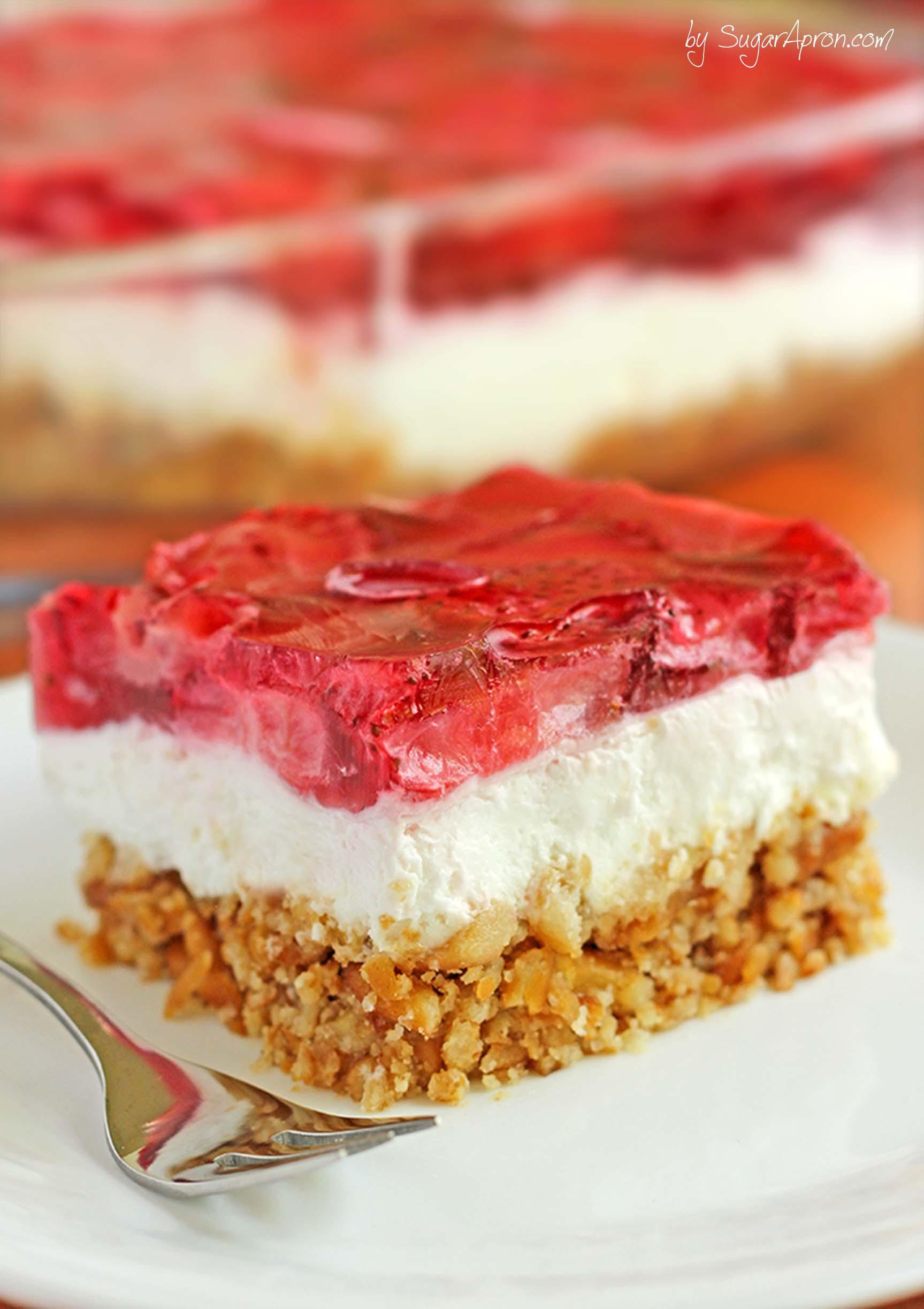 Summer Strawberry Desserts the top 20 Ideas About Strawberry Pretzel Dessert Sugar Apron