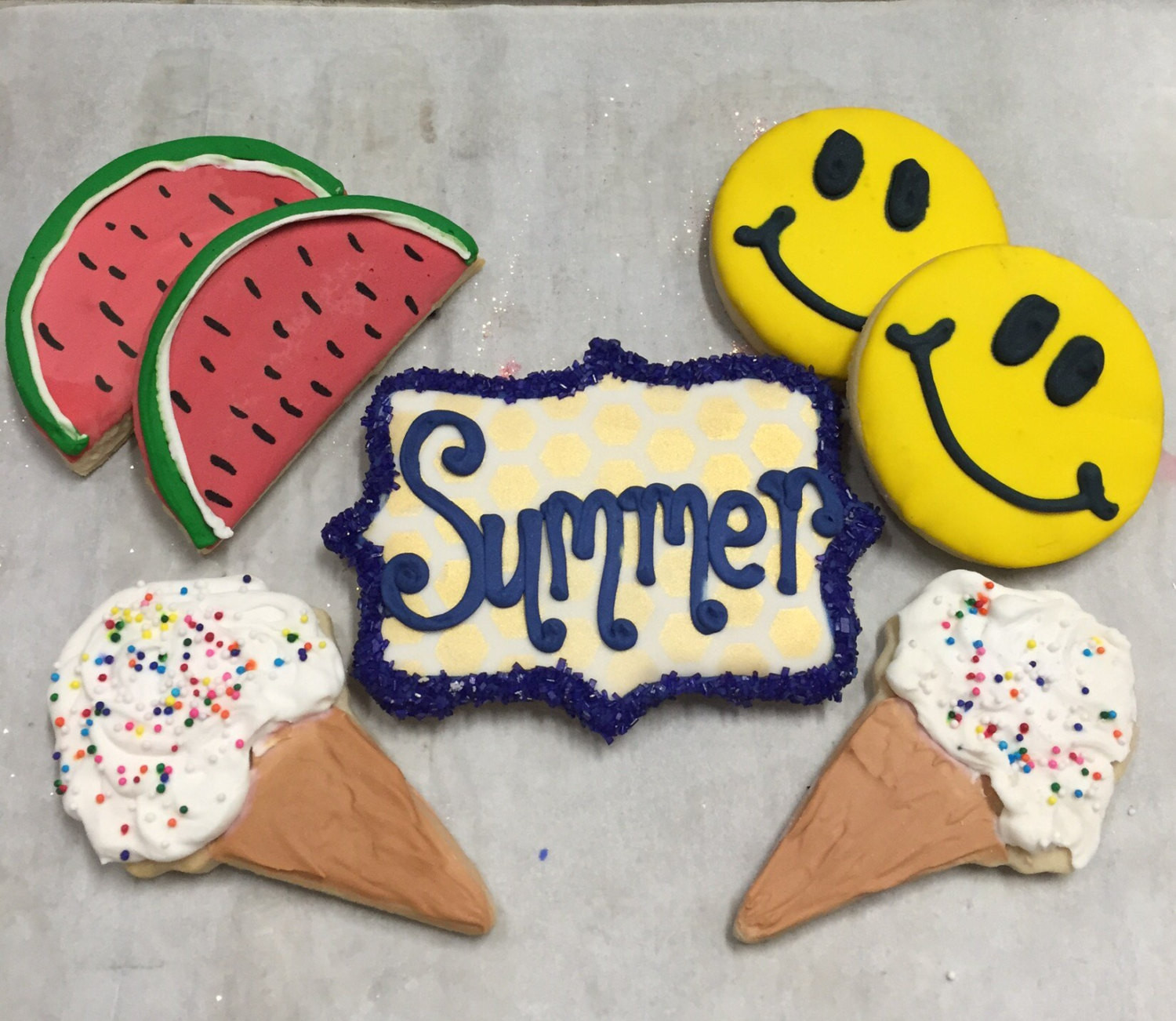 Summer Sugar Cookies  Summer theme decorated sugar cookies Fun sugar cookies