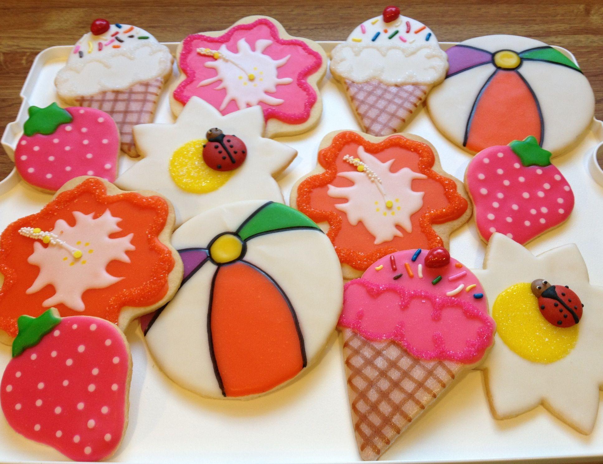 Summer Sugar Cookies  Summer themed sugar cookies
