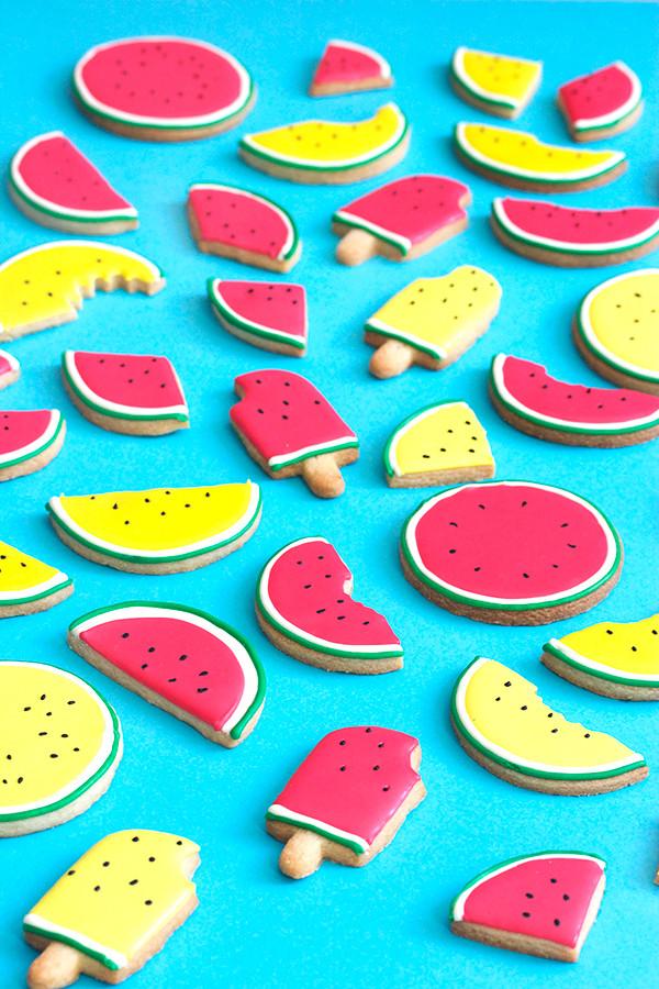 Summer Sugar Cookies  Summer Watermelon Cookies