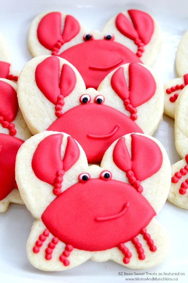 Summer Sugar Cookies  Crab Cookies Tutorial
