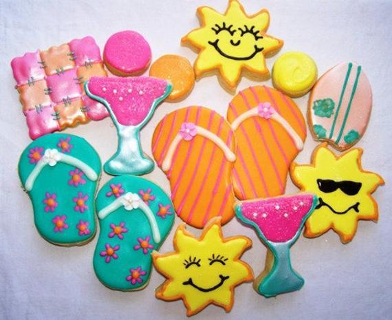 Summer Sugar Cookies  Items similar to Summer Fun sugar cookies e Dozen on Etsy