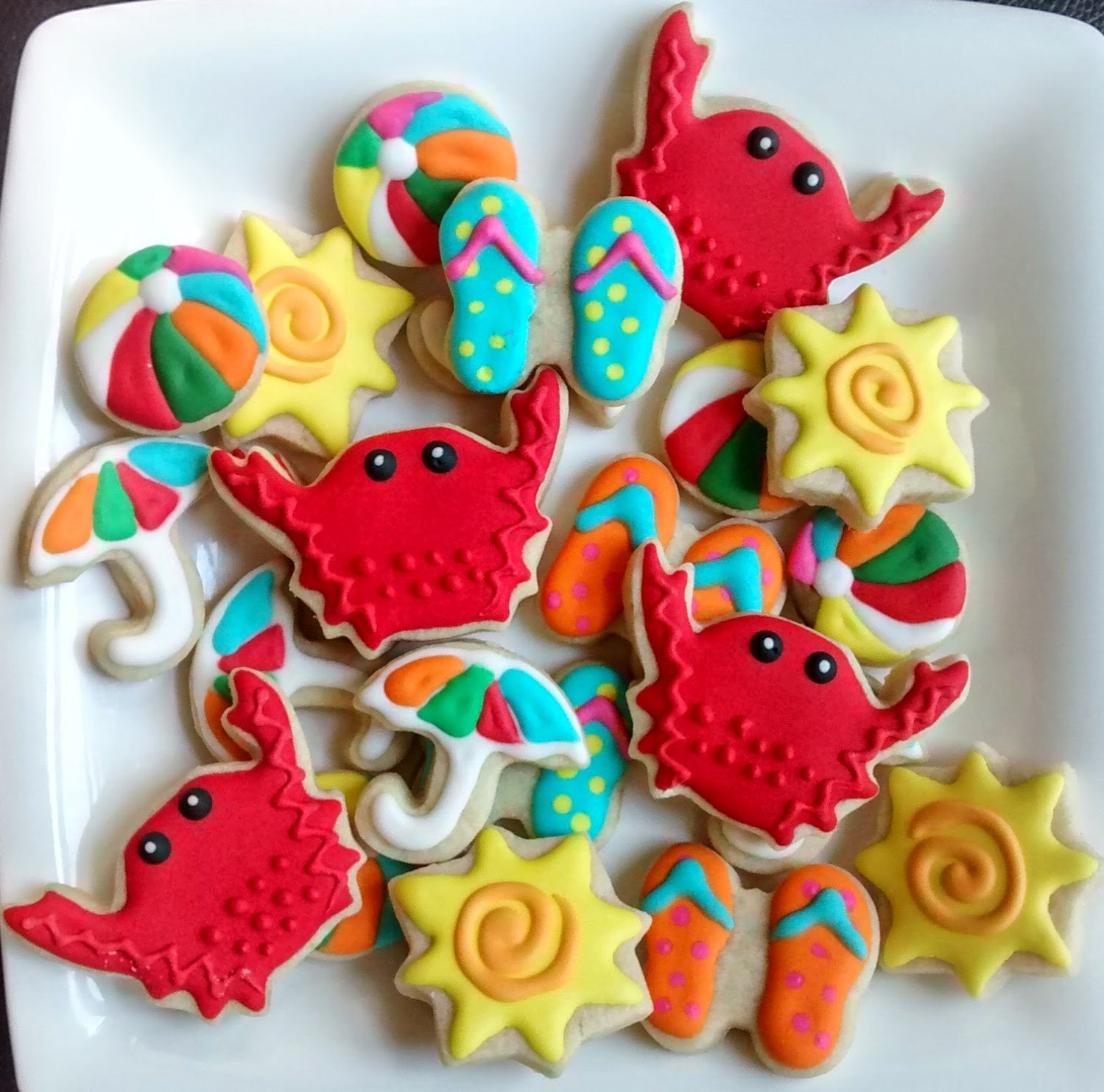 Summer Sugar Cookies  Summer fun mini sugar cookies or large 3 5 with royal