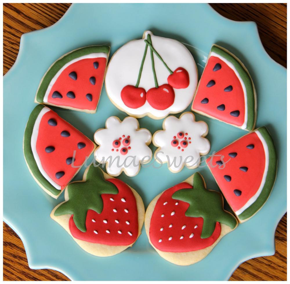 Summer Sugar Cookies  Summer Fruit Sugar Cookies